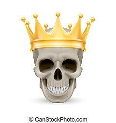 金の王冠, 頭骨