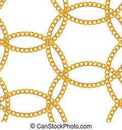 金の 鎖, パターン, seamless, イラスト, バックグラウンド。, 宝石類