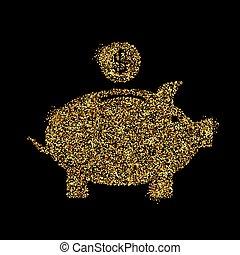金ピカ物, 概念, 芸術, 金, 抽象的, 明るい, きらめき, バックグラウンド。, 隔離された, ちらちら光りなさい, 創造的, きらめき, bling, アイコン, ほこり, イラスト, ホイル, 紙ふぶき, 銀行, 白熱, 網, スパンコール, ライト, 小豚