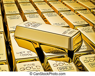 金塊, バー, 金, ぐっと近づいて, 山
