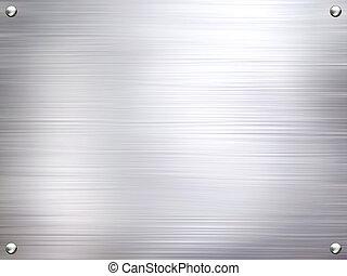 金属盘子, 钢铁, 背景。