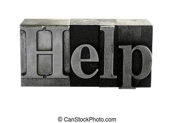金属, タイプ, 助け, 凸版印刷