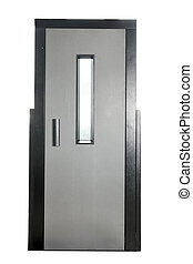 金属, ドア, エレベーター
