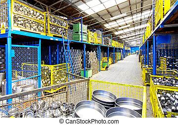 金属, 倉庫