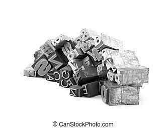 金属, 印刷ブロック, 凸版印刷