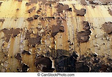 金属, 古い, ペンキ, 表面, さび