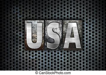 金属, 概念, タイプ, アメリカ, 凸版印刷