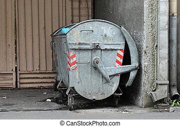 金属, 汚い, dumpster
