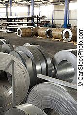 金属, 生産, シート, ホール, 回転する