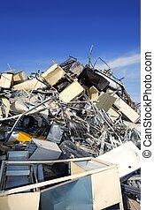 金属, 碎片, 再循环, 生态, 工厂, 环境