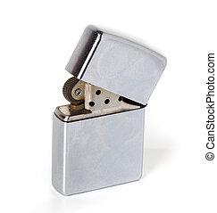 金属, 銀, より軽い, zippo