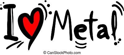 金属, 音楽, 愛