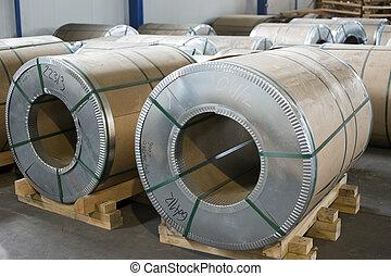 金屬板, 勞易斯勞萊斯, 在, 生產, 大廳