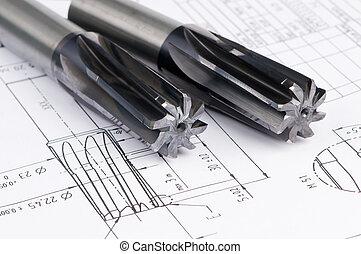 金屬, 完成, 工具, 絞刀