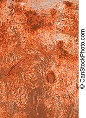 金屬, 顏色, 結構, 背景。, 生鏽, 橙