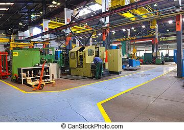 金屬, industy, 工廠, 室內