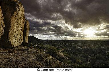 金時間, アリゾナ, 風景, scot