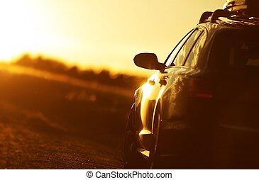 金時間, 自動車, 道路旅行