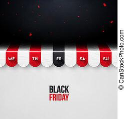 金曜日, 黒