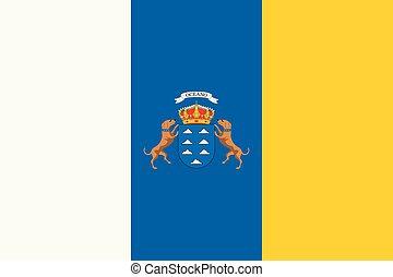 金絲雀島, flag., 外套, ......的, arms., 西班牙語, archipelago.