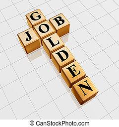 金色, 工作, 拼字游戏