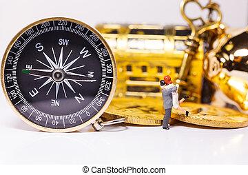 金色, 财富, 概念, 股票, 人们, 钱, 指南针, 策略, 权力, 从事贸易, 钥匙, 计划, 指南, 投资, 方向, 视力, 商业, 成功, 建议, fortune., 定位, 咨询, 决定