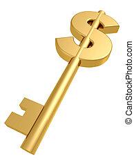 金色, 钥匙, 成功