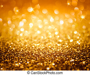金色, 闪光, 星