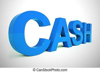 金融の概念, 富, 現金, ショー, アイコン, 管理, -, 3d, イラスト