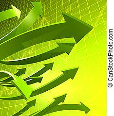 金融概念, 成長, 事務