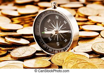 金融概念, -, 駕駛, 在, 困難, 時代, 為, 市場