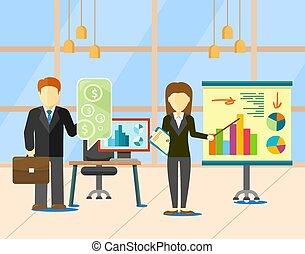 金融, ビジネス戦略, 通貨, ベクトル, 計画