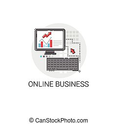 金融, ビジネス, マーケティング, オンラインで, 分析, 図, コンピュータ, デジタル, アイコン