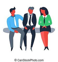 金融, ビジネス, 女性実業家, チームワーク, 協力, ビジネスマン