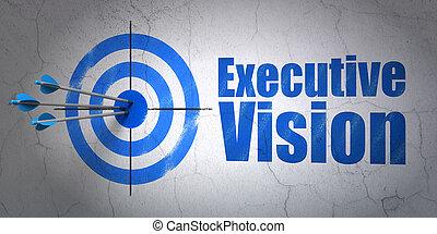 金融, 壁, 経営者, concept:, 背景, ビジョン, ターゲット