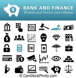 金融, 銀行, アイコン