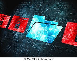 金融, concept:, 上に, デジタルバックグラウンド