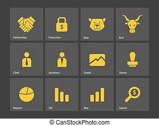 金融, icons.
