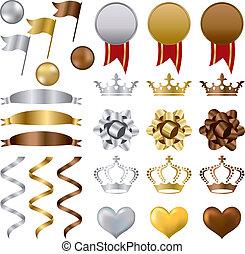 金銀青銅, 獎品, 集合