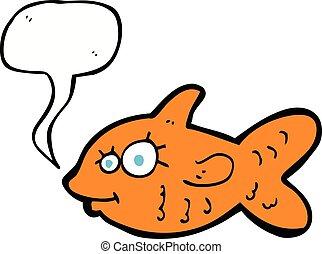 金魚, 泡, スピーチ, 漫画, 幸せ