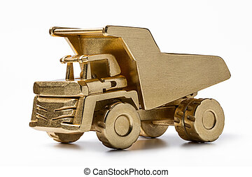 金, おもちゃ, ダンパ, wood., 作られた
