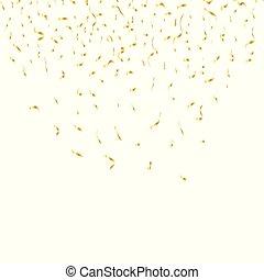 金, お祝い, isolated., イラスト, バックグラウンド。, ベクトル, 紙ふぶき