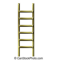 金, はしご, 3d