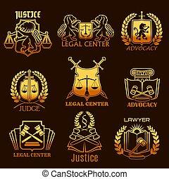 金, アイコン, 正義, 法的, ベクトル, advocacy, 弁護士