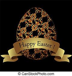金, イースター, egg.