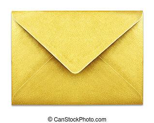 金, コピー, 封筒, スペース