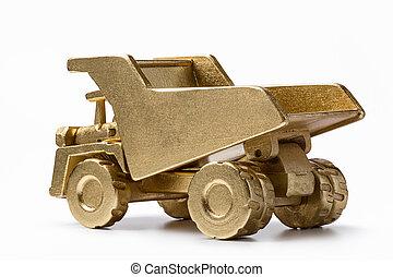 金, ゴミ捨て場, 鉱山, truck., 大きい