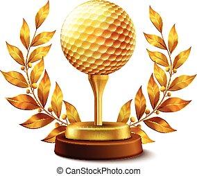 金, ゴルフ, 賞