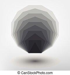 金, スタイル, ratio., 形, デザイン, minimalistic, 幾何学的, 未来派, design.