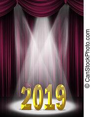 金, スポットライト, 2019, くり色, 卒業